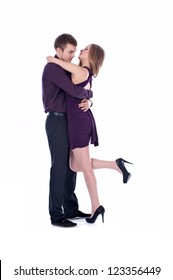 Young couple dancing.Valentine's day
