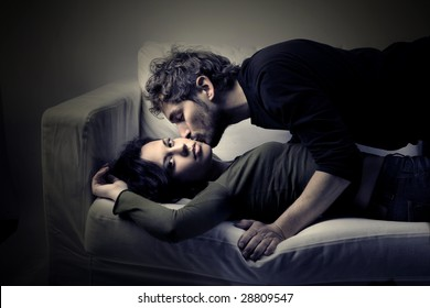 young couple in effusion