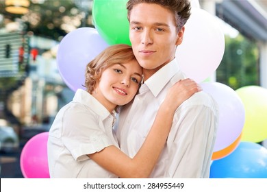 Young Couple, Couple, Embracing.
