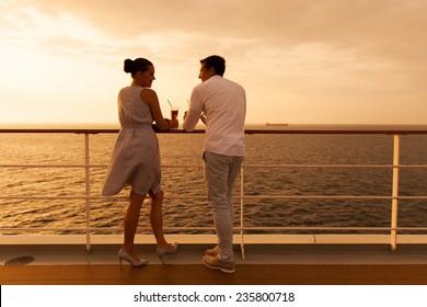 young couple enjoying a cruise holiday
