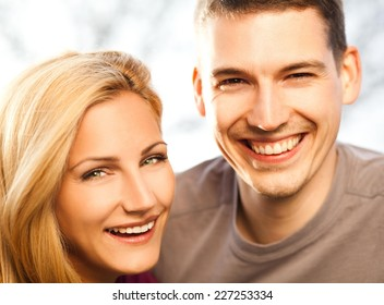 Young couple enjoying early spring.