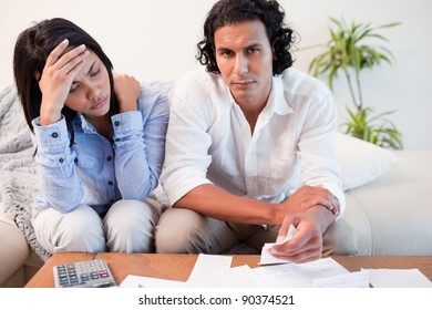 Young couple experiencing financial problems