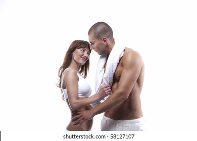 Young couple with great bodies