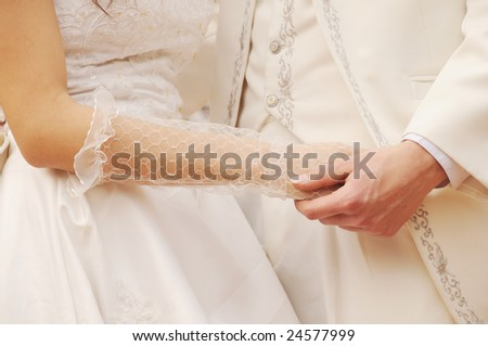 25fdc6c8c1 Young Couple Hand Hand Wedding Ceremony Stock Photo (Edit Now ...