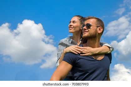 Young couple happy about future together