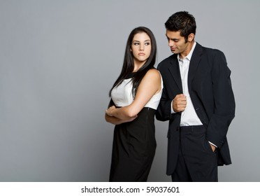 Young couple having problems and and between each other