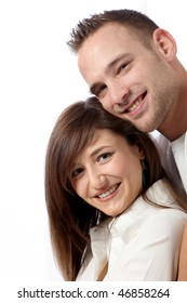 young couple laughing together and is really happy