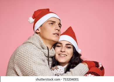 young couple, new year