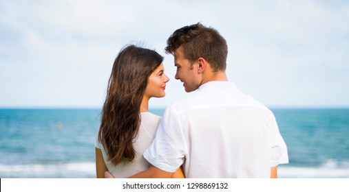 Young couple at outdoors