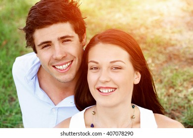 Young couple in the park
