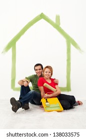 Young couple redecorating their first home together