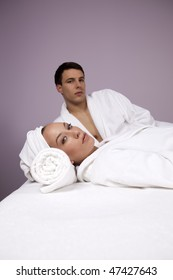 Young Couple Relaxing in the Spa