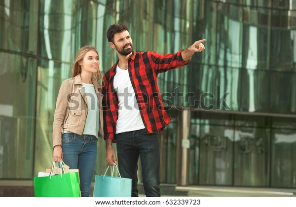 Young couple romantic city walk love relationship