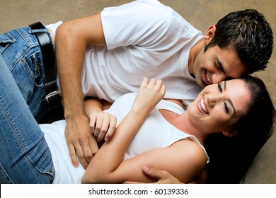 Young couple sharing a romantic moment