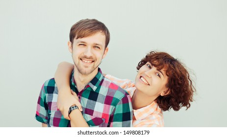 Young couple smiling and posing