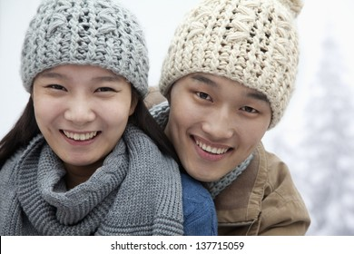 Young Couple in the Snow