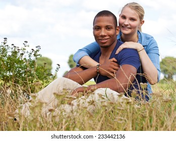 Young couple spending time outside