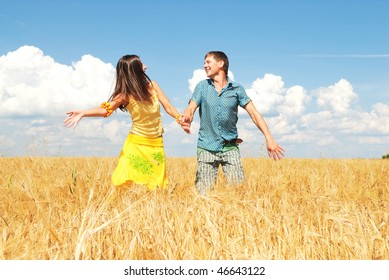 Young couple spends time outdoors