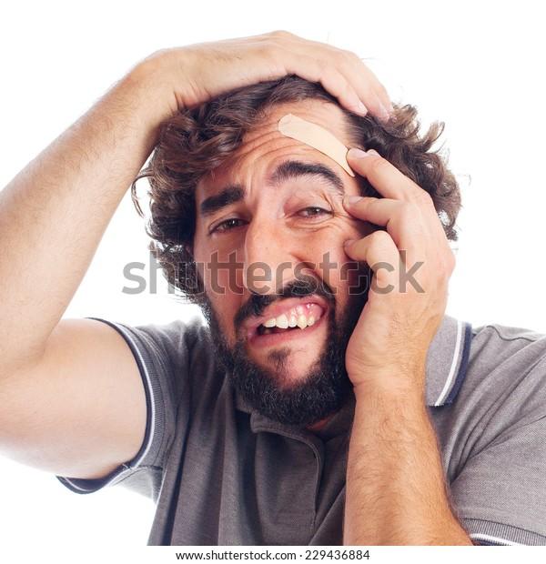 photos officielles fdfb1 43503 Young Crazy Man Head Pain Stock Photo (Edit Now) 229436884
