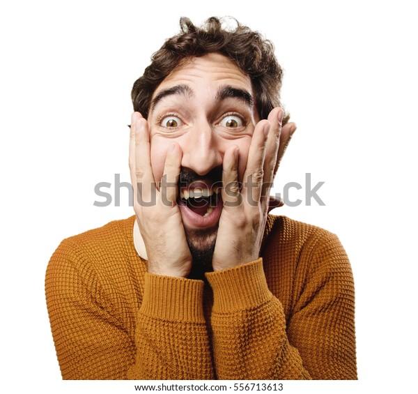 énorme réduction efc5e 4e8b7 Young Crazy Man Surprised Stock Photo (Edit Now) 556713613