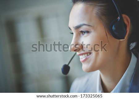 Young customer support representative