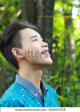 young cute male healthy teenager asian stock photo edit now