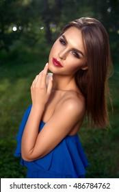 outdoors Beautiful skinny girl