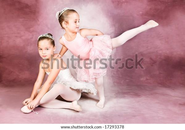 Young dancer wearing a tutu and tiara