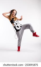 young dancing girl