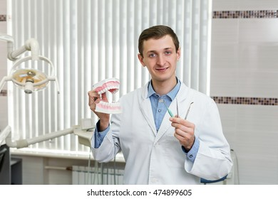 Young dentist in the office