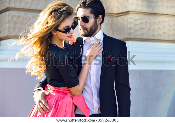 Young Elegant Sexy Couple Hugs On Stock Photo Edit Now 359268005-2556