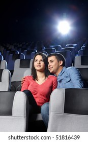 The young enamoured couple looks a film
