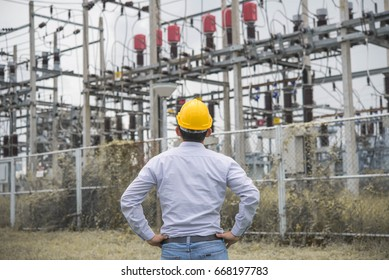 Young engineers face a check-yard shot into electricity