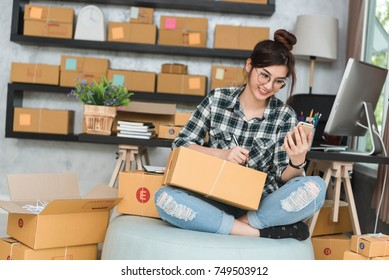 Young entrepreneur, teenager business owner work at home, alpha generation life style, online business conceptual