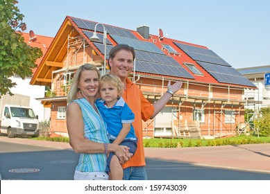 Young family and private home.