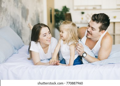 young family spending time together