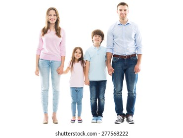 Young family with two kids