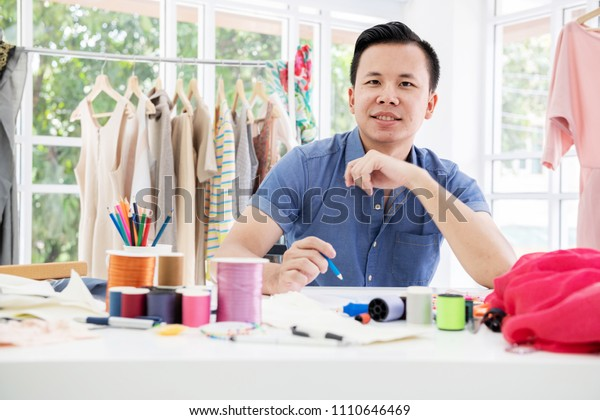 Young Fashion Designer Portrait Young Chinese Stock Photo Edit Now 1110646469