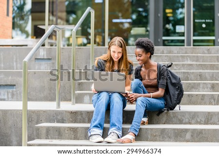 Young female college students