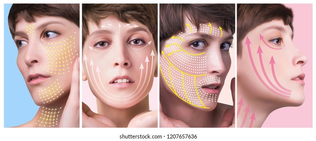 Thread Face Lifting Images, Stock Photos & Vectors