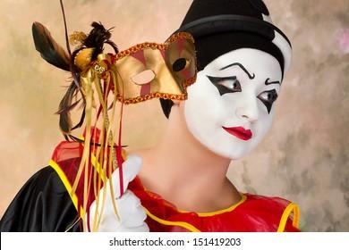 Pierrot Et Arlequin Images, Stock Photos & Vectors   Shutterstock