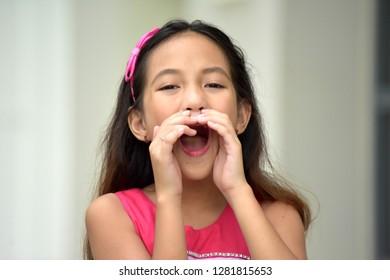Young Filipina Tween Yelling