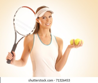 Young fit tennis player isolated over white background