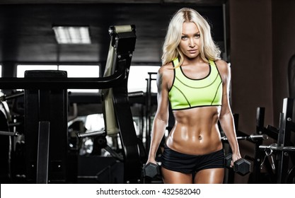 young fitness woman execute exercise