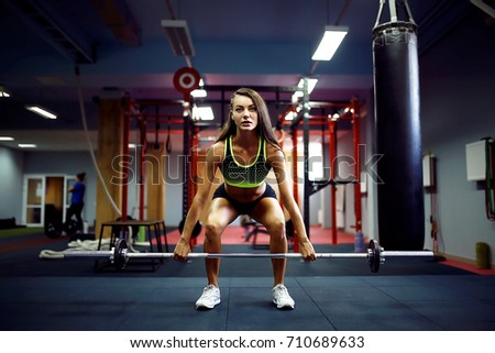 Young Fitness Woman Lifting Weight Crossfit Stock Photo Edit Now