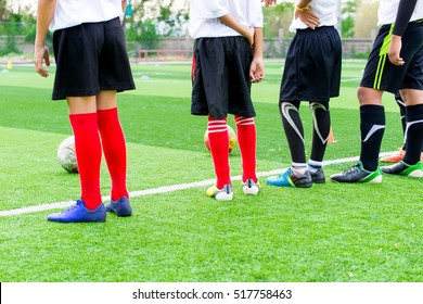 Young football player Training in Children Soccer academy