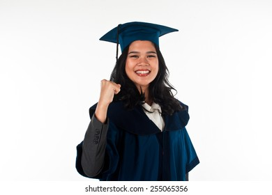 Young and fresh graduate girl