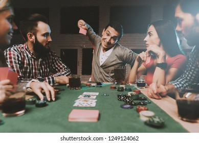 Friends Play Poker High Res Stock Images Shutterstock