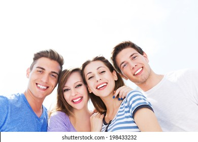 Young friends smiling