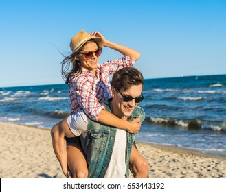 Funny Couple On Beach Images Stock Photos Vectors Shutterstock